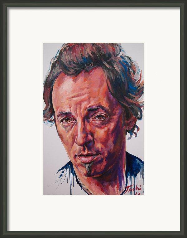 Bruce Framed Print By Tachi Pintor