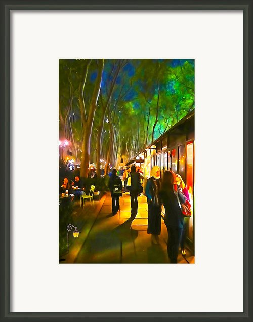 Bryant Park Evening Framed Print By Richard Trahan