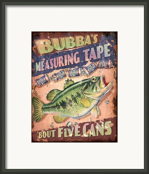 Bubba Measuring Tape Framed Print By Jq Licensing