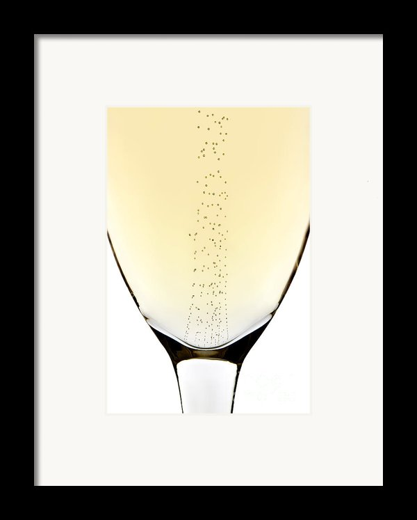 Bubbles In Champagne Framed Print By Johan Swanepoel