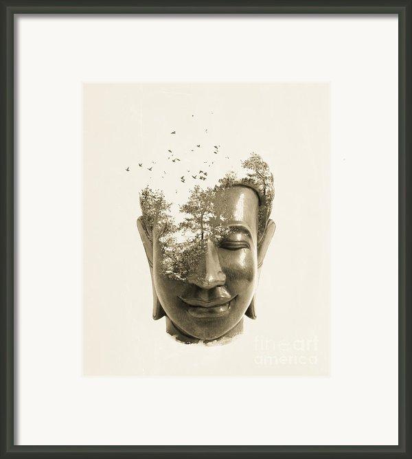 Buddha Non Attachment Framed Print By Budi Satria Kwan