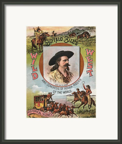 Buffalo Bills Wild West Framed Print By Unknown