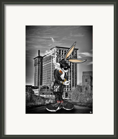 Bugs At The Train Station Framed Print By Nicholas  Grunas