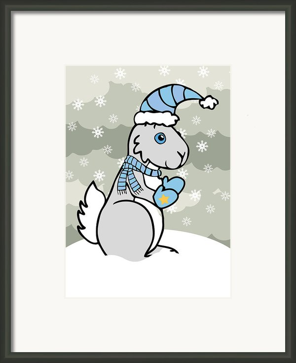 Bunny Winter Framed Print By Christy Beckwith