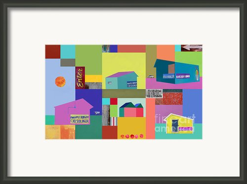 Burger Joint #1 Framed Print By Elena Nosyreva