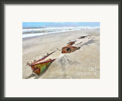 Buried Treasure - Shipwreck On The Outer Banks I Framed Print By Dan Carmichael