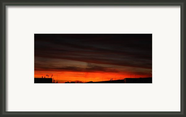 Burning Night Time Sky Framed Print By John Telfer