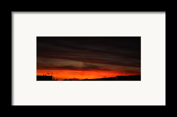 Burning Night Time Sky Framed Print By John Telfer