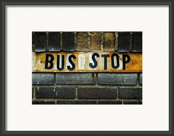 Bus Stop Framed Print By Jeff Burton