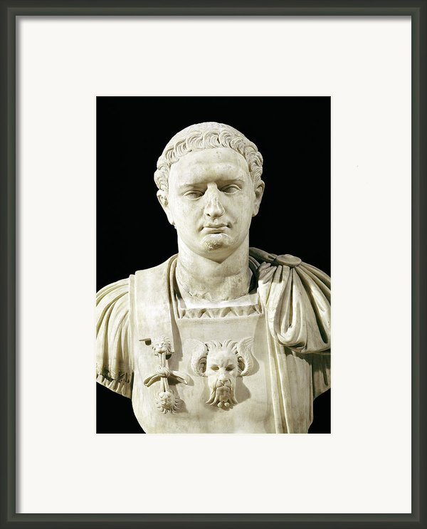 Bust Of Emperor Domitian Framed Print By Anonymous