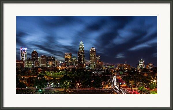 Busy Charlotte Night Framed Print By Chris Austin