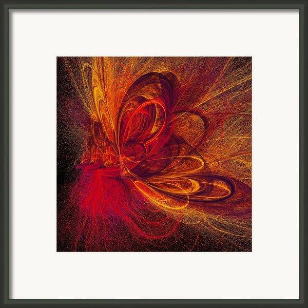 Butterfire Framed Print By Sharon Lisa Clarke