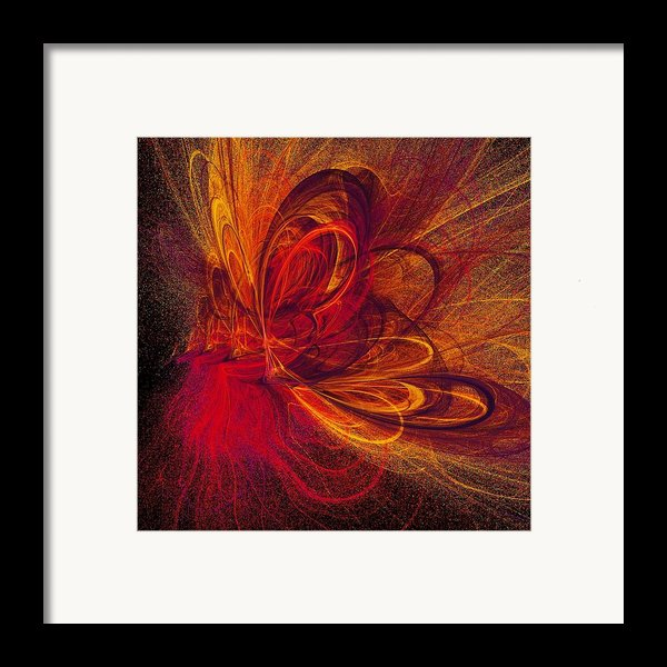 Butterfire Framed Print By Sharon Lisa Clarke