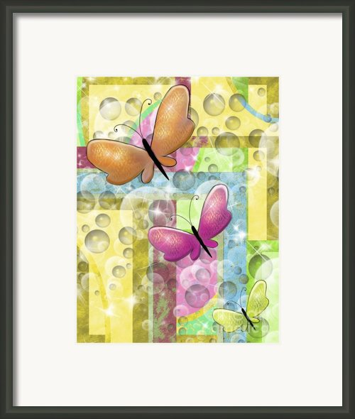 Butterfly Dreams Framed Print By Karen Sheltrown