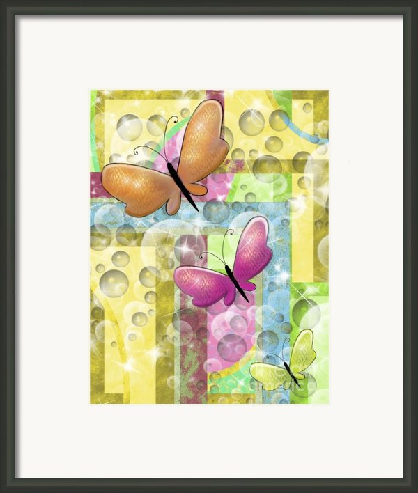 Butterfly Dreams Framed Print By Karen Sheltrown