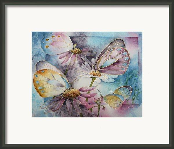 Butterfly Garden Framed Print By Patsy Sharpe