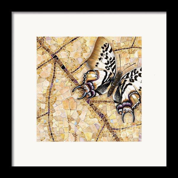 Butterfly Mosaic 01 Elena Yakubovich Framed Print By Elena Yakubovich
