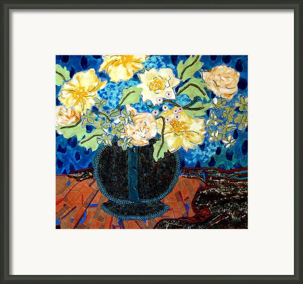 Button Up Vase Framed Print By Diane Fine