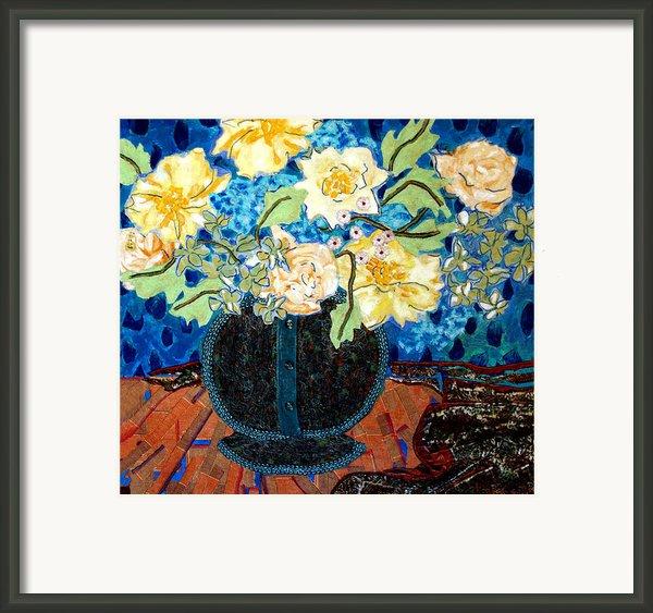 Button Up Vase Framed Print By Diane Fine