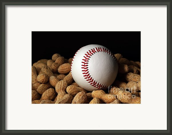 Buy Me Some Peanuts - Baseball - Nuts - Snack - Sport Framed Print By Andee Photography