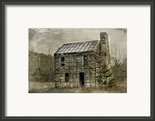 Cabin By The Track Series Ii Framed Print By Kathy Jennings