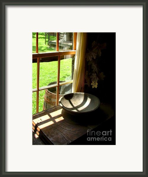 Cabin Crosses I Framed Print By Julie Dant