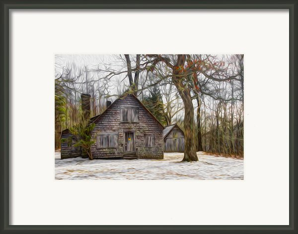 Cabin Dream Framed Print By Debra And Dave Vanderlaan