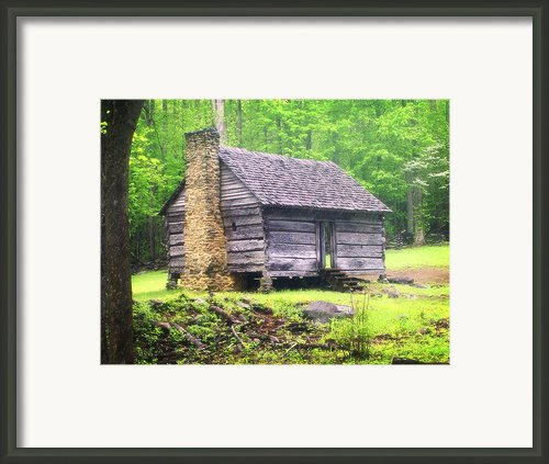 Cabin In The Smokies Framed Print By Marty Koch