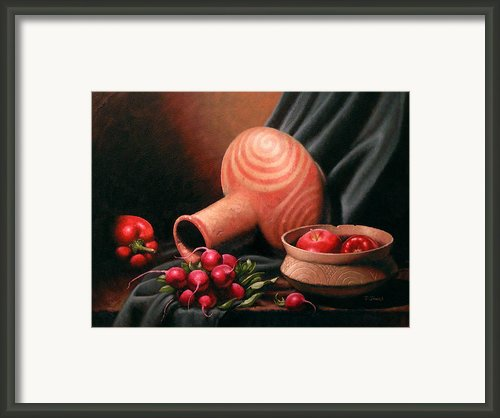 Caddo Jar - Red Study Framed Print By Timothy Jones