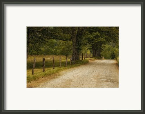 Cades Cove Road Framed Print By Andrew Soundarajan