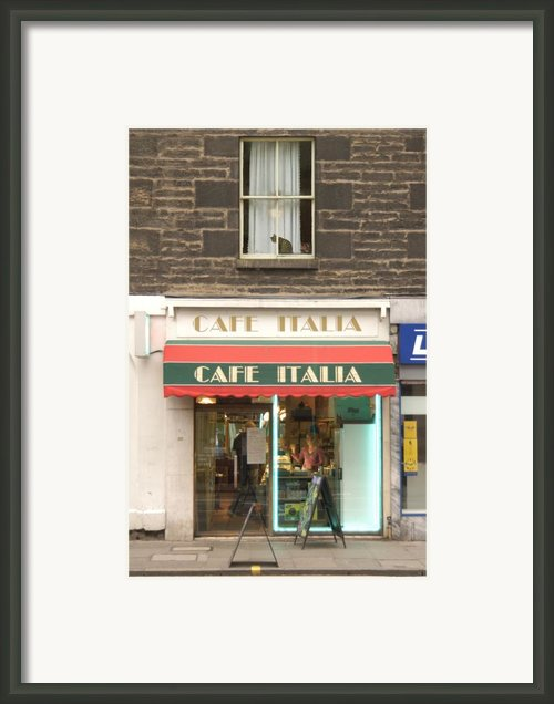 Cafe Italia Framed Print By Mike Mcglothlen