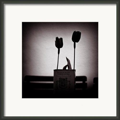 Cafe Table Framed Print By David Bowman