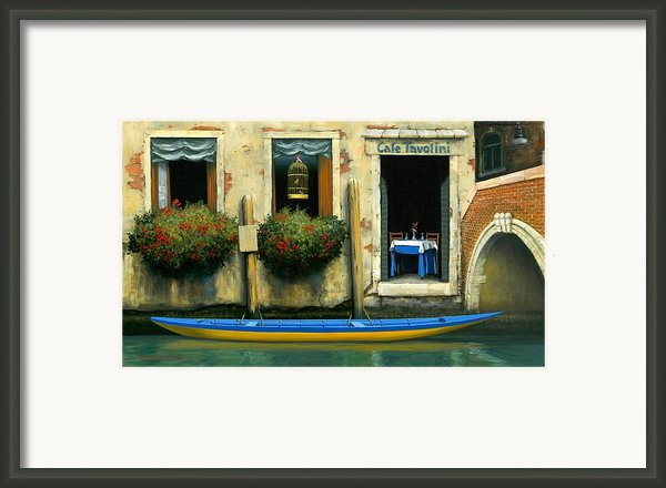 Cafe Tavolini Framed Print By Michael Swanson