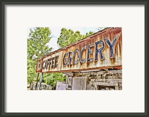 Caffee Grocery Framed Print By Scott Pellegrin