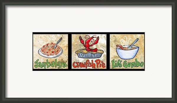 Cajun Food Trio Framed Print By Elaine Hodges