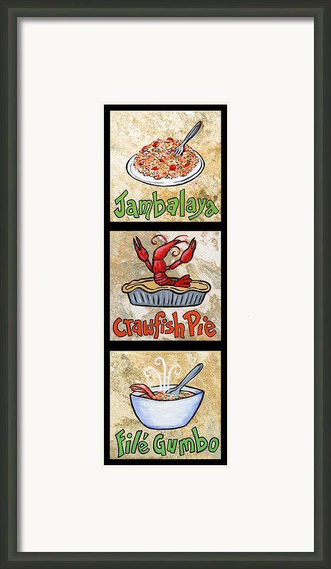 Cajun Trio Black Framed Print By Elaine Hodges