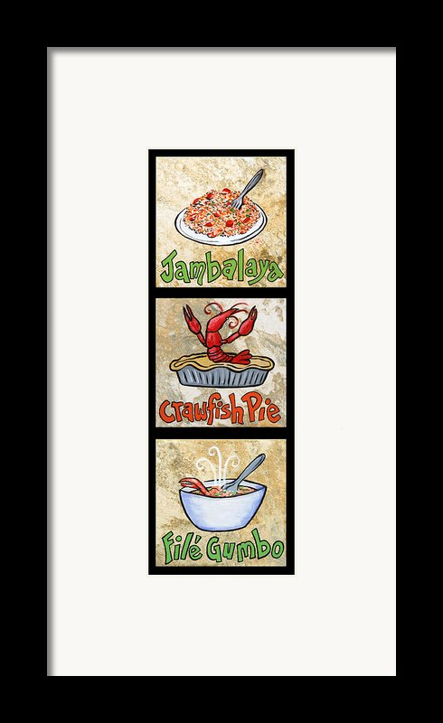 Cajun Trio Black Framed Print By Elaine Hodges