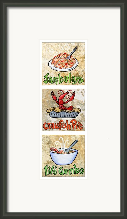 Cajun Trio White Framed Print By Elaine Hodges
