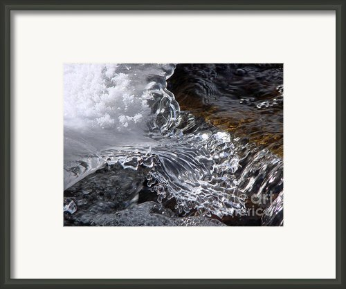 Callahan Dam Ice Framed Print By Theresa Kocka
