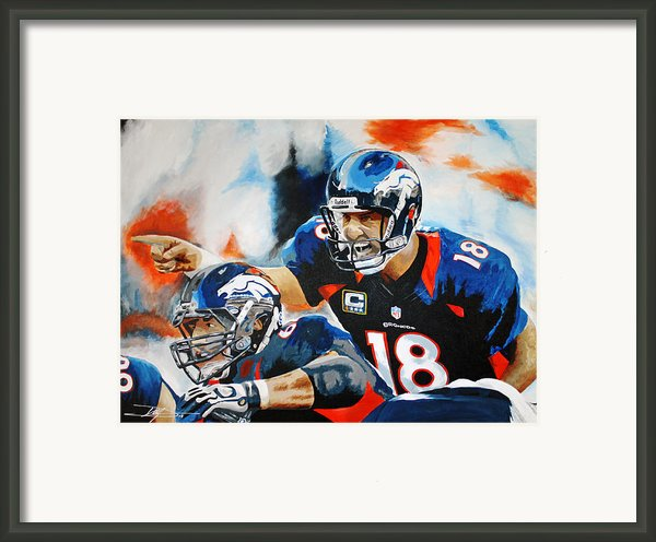 Calling Out The Blitz Framed Print By Don Medina