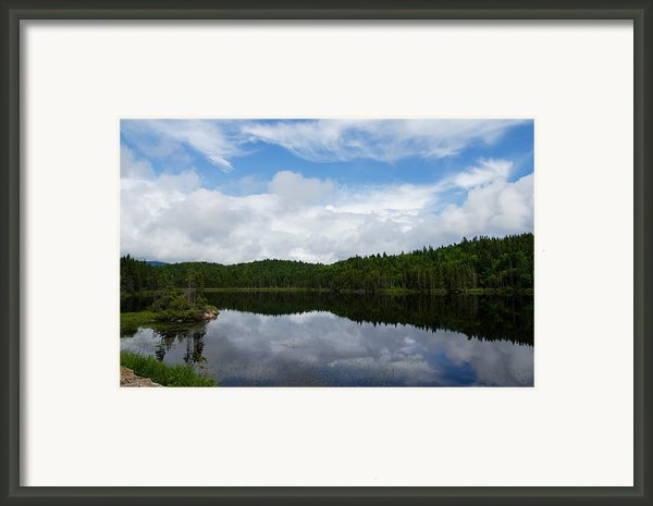 Calm Lake - Turbulent Sky Framed Print By Georgia Mizuleva
