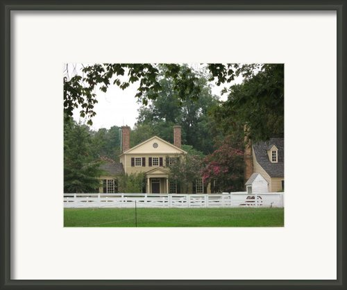 Calm Place In Colonial Williamburg Framed Print By Christiane Schulze