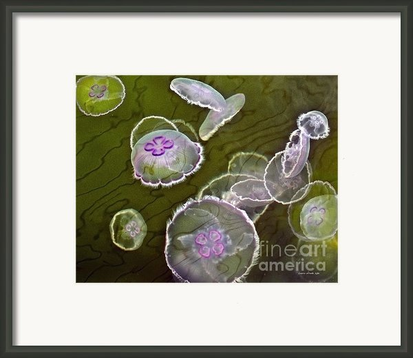 Canadian Moon Jelly Dance Framed Print By Artist And Photographer Laura Wrede