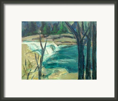 Canajoharie Creek Near Village Framed Print By Betty Pieper