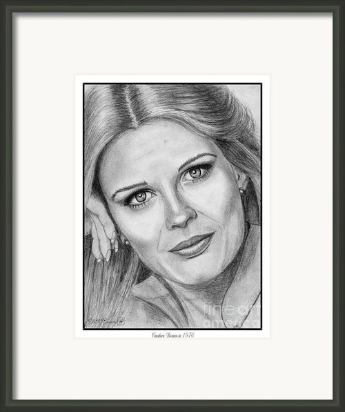 Candace Bergen In 1976 Framed Print By J Mccombie