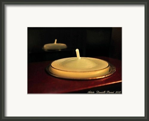 Candles And Relaxation Framed Print By Danielle  Parent