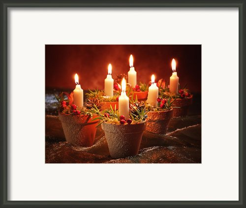 Candles In Terracotta Pots Framed Print By Christopher Elwell And Amanda Haselock