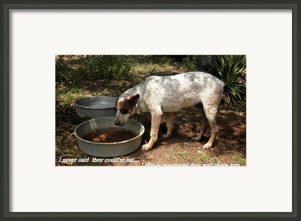 Canine Rational.... Framed Print By Camille Reichardt