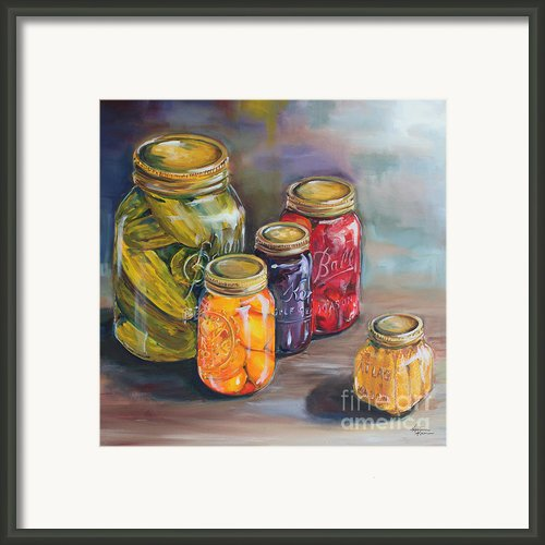 Canning Jars Framed Print By Kristine Kainer