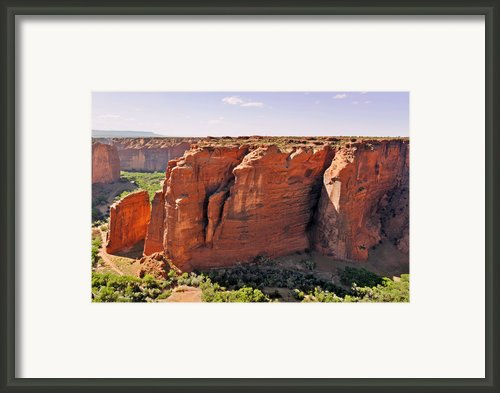 Canyon De Chelly - View From Sliding House Overlook Framed Print By Christine Till